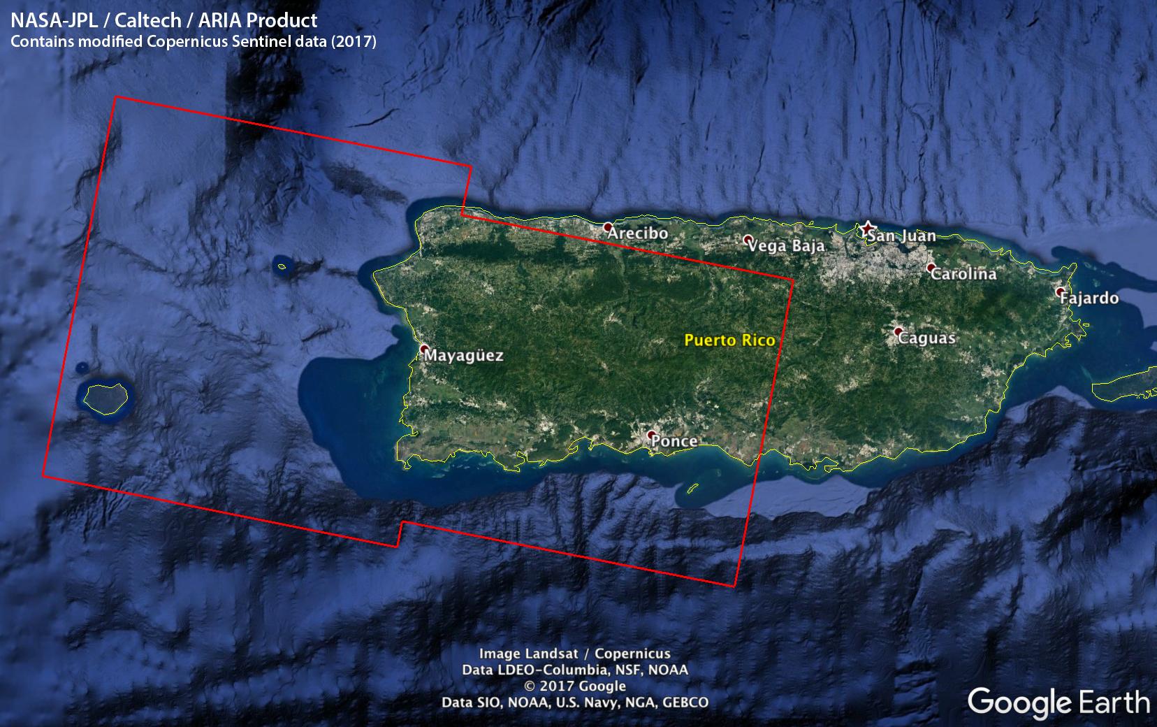 Aria Damage Proxy Map Of Puerto Rico After Hurricane Maria Nasa