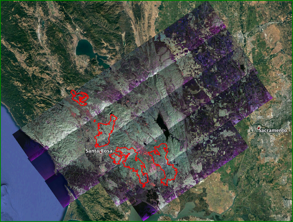 California Wildfires 2017 | NASA Earth Science Disasters Program