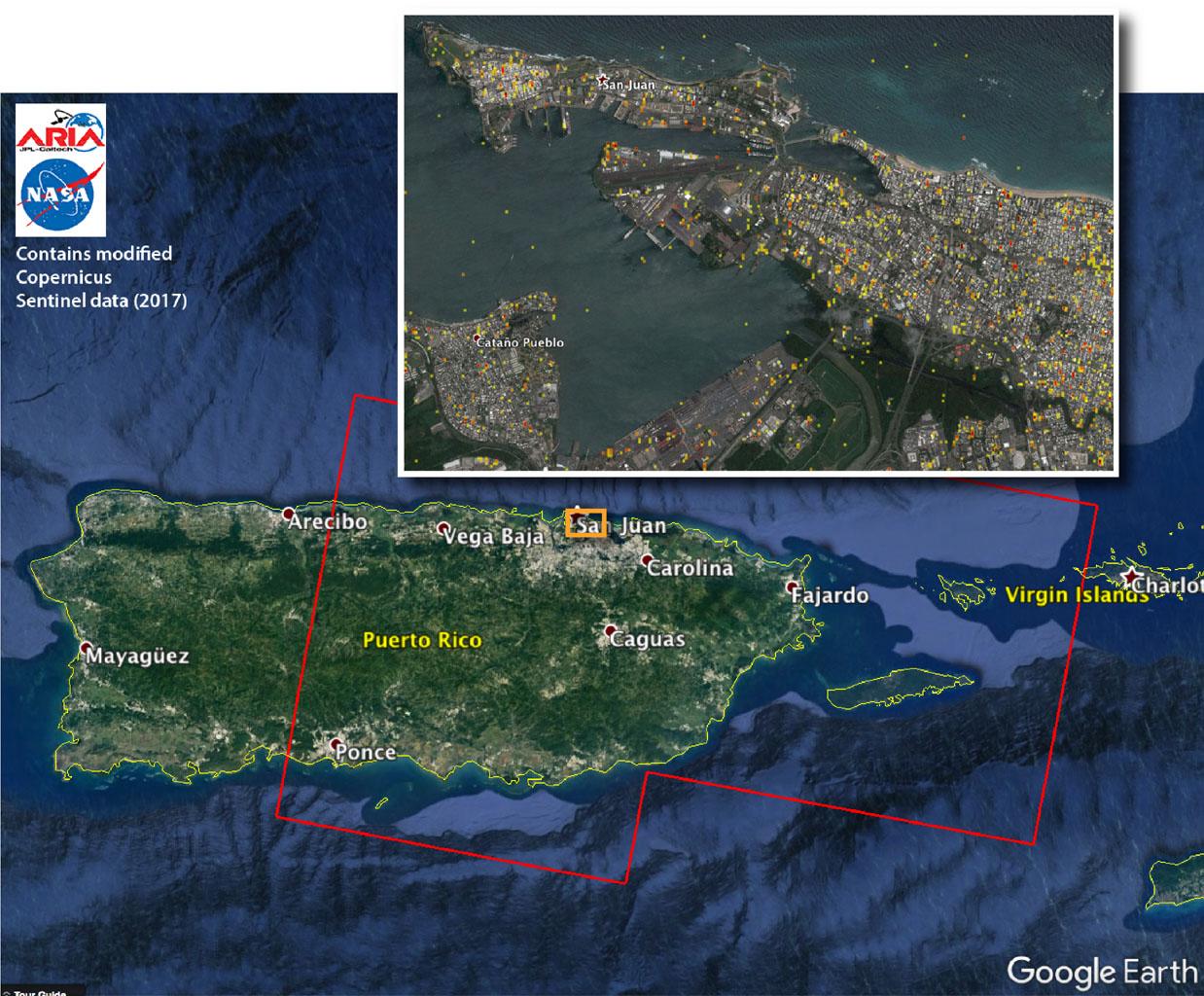 NASA Damage Map Aids FEMA\'s Hurricane Maria Rescue Operation in ...
