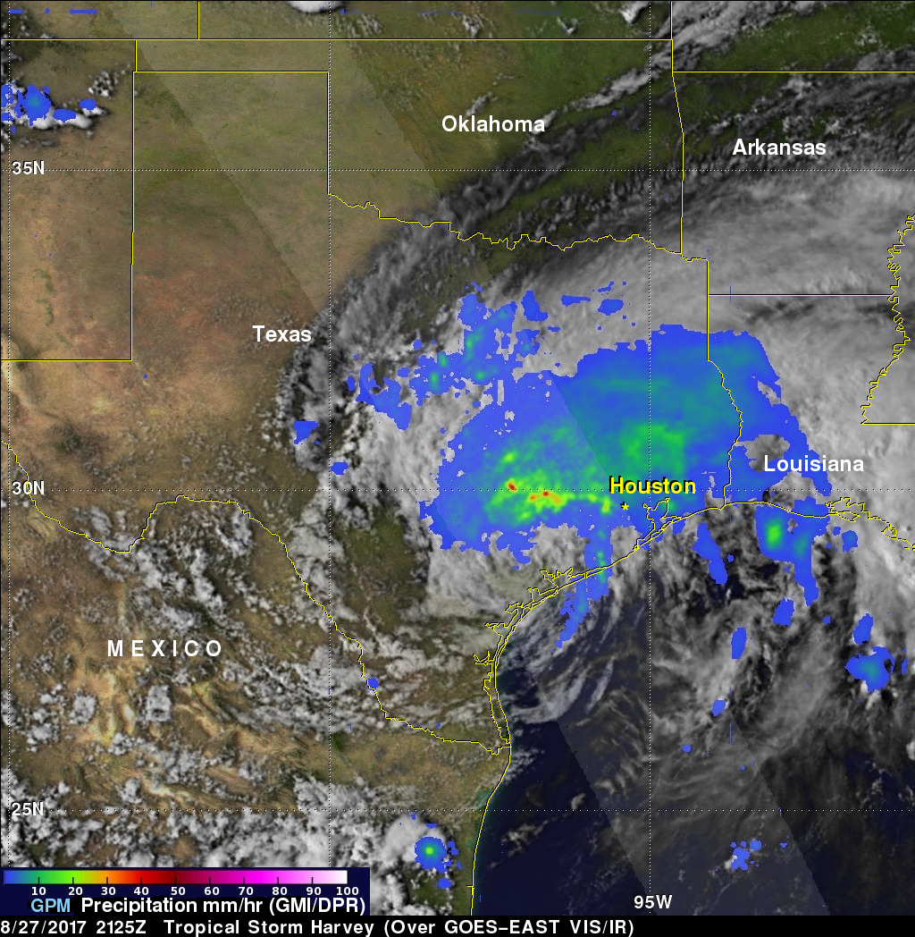 Map Of Texas Storms.Gpm Measures Flooding Texas Rainfall From Hurricane Harvey Nasa