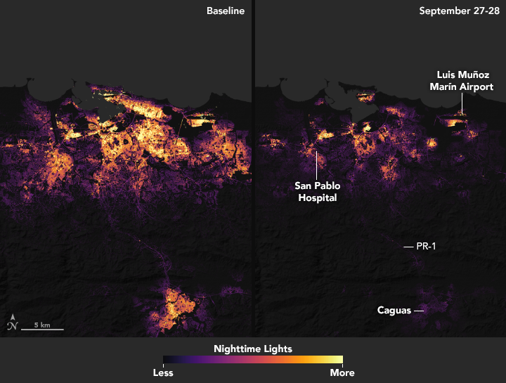 Puerto Rico Power Outage Map Suomi NPP Sees Power Outages in Puerto Rico from Hurricane Maria