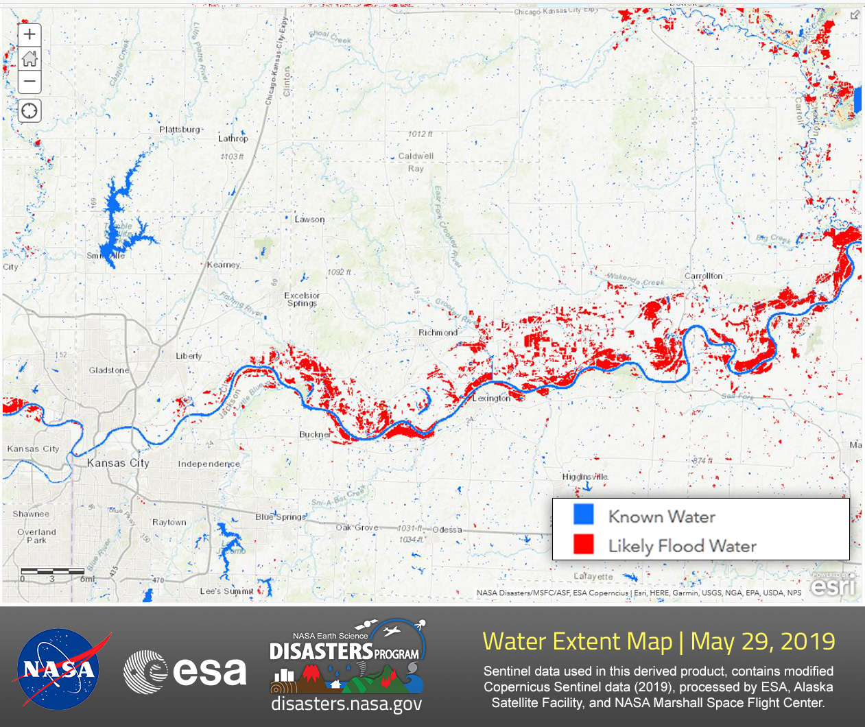 Disasters Program Provides Water Extent Maps Of The Central Us To - Us-map-program