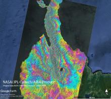 ARIA Cross-Track Interferogram, Sulawesi Earthquake