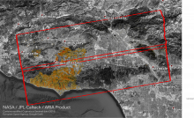 ARIA's Damage Proxy Map shows areas damaged by the Woolsey Fire in California.