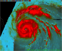 GPM image of hurricane Harvey on Aug 25 2017