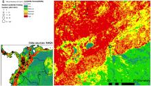 Landslide susceptibility and fatalities map from the NASA Global Landslide Catalog.