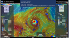 Screenshot from the North Atlantic Hurricane Watch web portal.