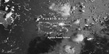 VIIRS Day-night band image of Puerto Rico acquired after the blackouts at at 2:31 a.m. local time (06:31 Universal Time) on September 22, 2016.